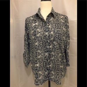 Women's Joe Fresh Blouses Size M Sleeve 3/4